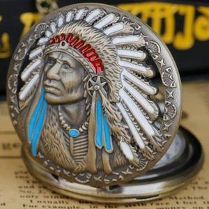 Beautiful new Indian chief headdress quartz pocket